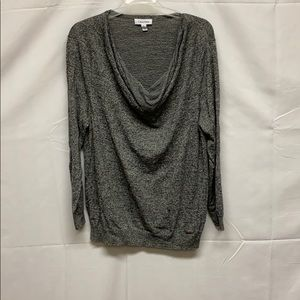 Calvin Klein grey cowl neck sweater soft and comfy